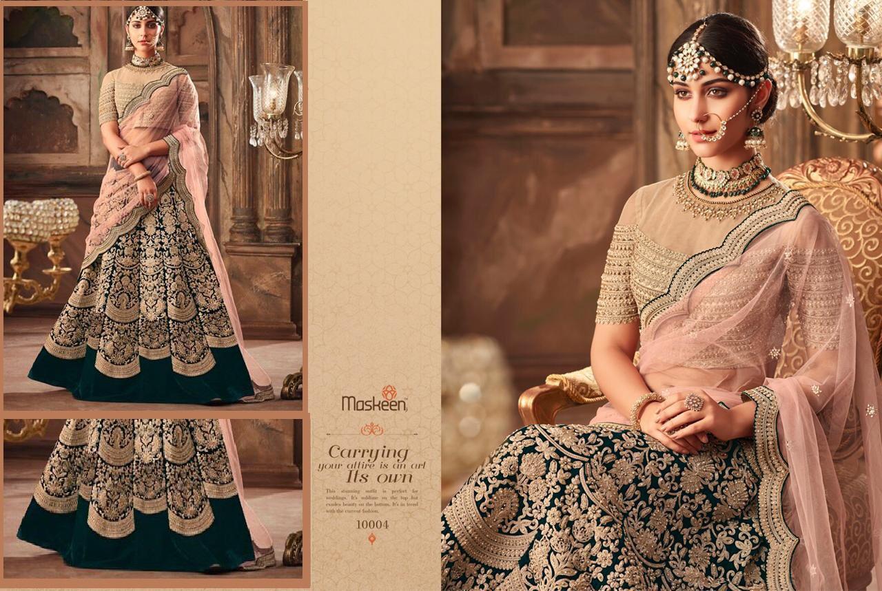 37d99bf097 Maisha Maskeen Lehenga 10004 Colors At Wholesale Price Surat ...
