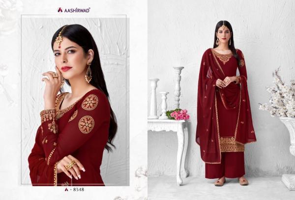 Aashirwad Creation Saffron 8348-8353 Series Wholesale Surat