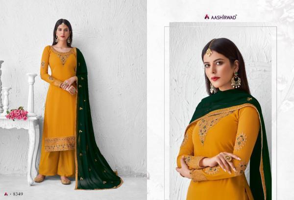 Aashirwad Creation Saffron 8349