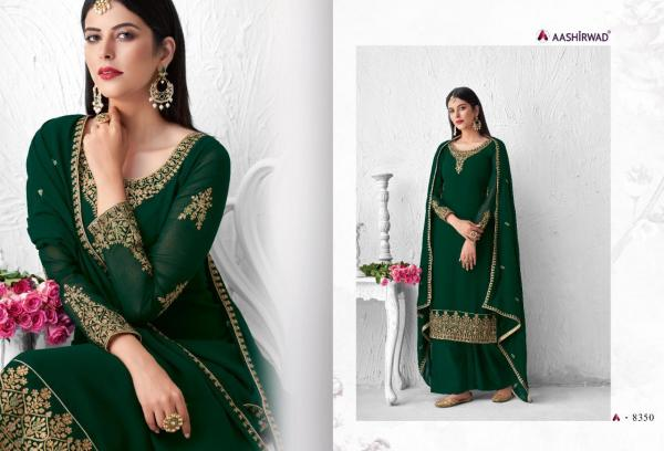Aashirwad Creation Saffron 8350