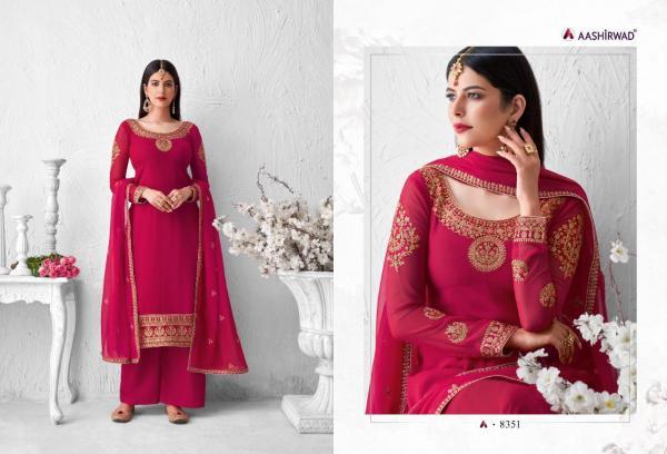 Aashirwad Creation Saffron 8351