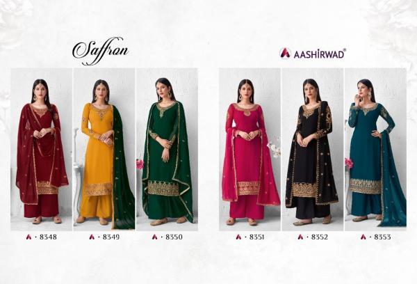 Aashirwad Creation Saffron 8348-8353