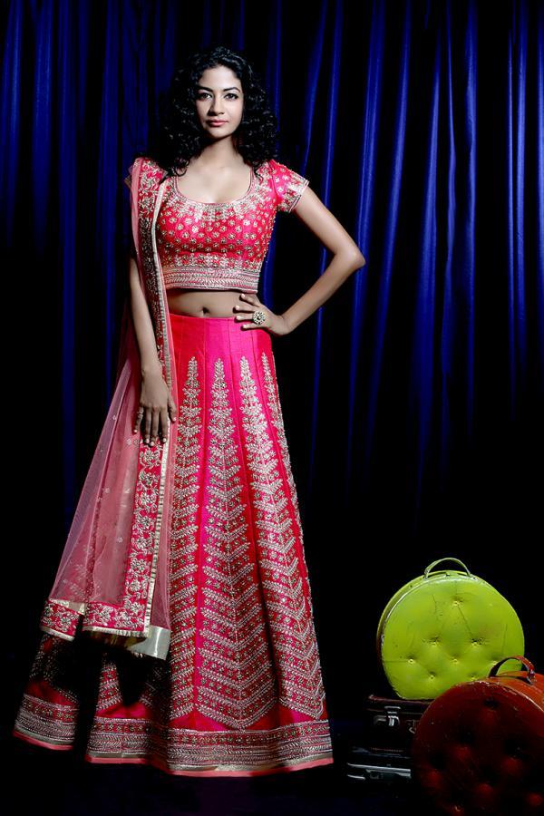 Designer Bridal Pink Lehenga 32