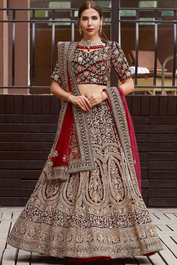 Designer Gold Bridal Lehenga 891-894 Series