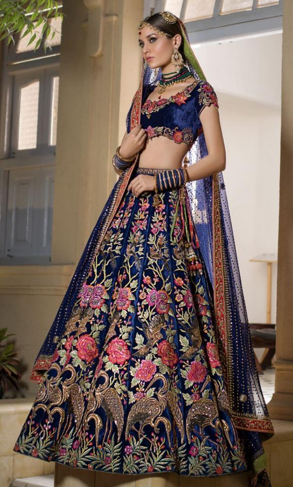 Designer Gold Bridal Lehenga 895