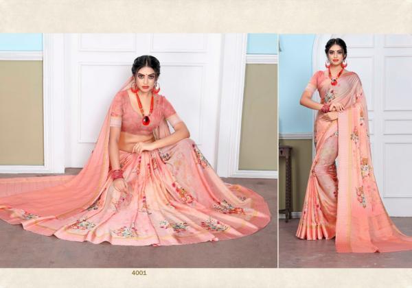 Designer Printed Saree 4001-4010 Series