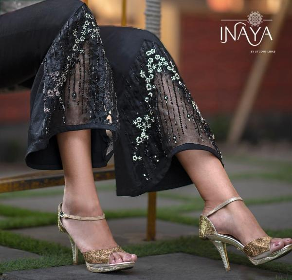 Inaya By Studio Libas Stretchable Cotton Bell Pants