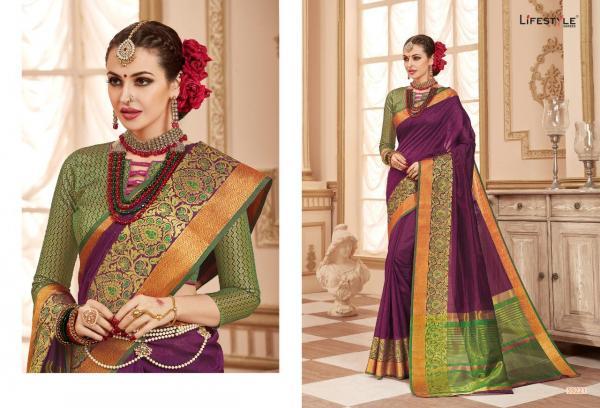 Lifestyle Saree Resham Silk Vol-4 59221-59226 Series