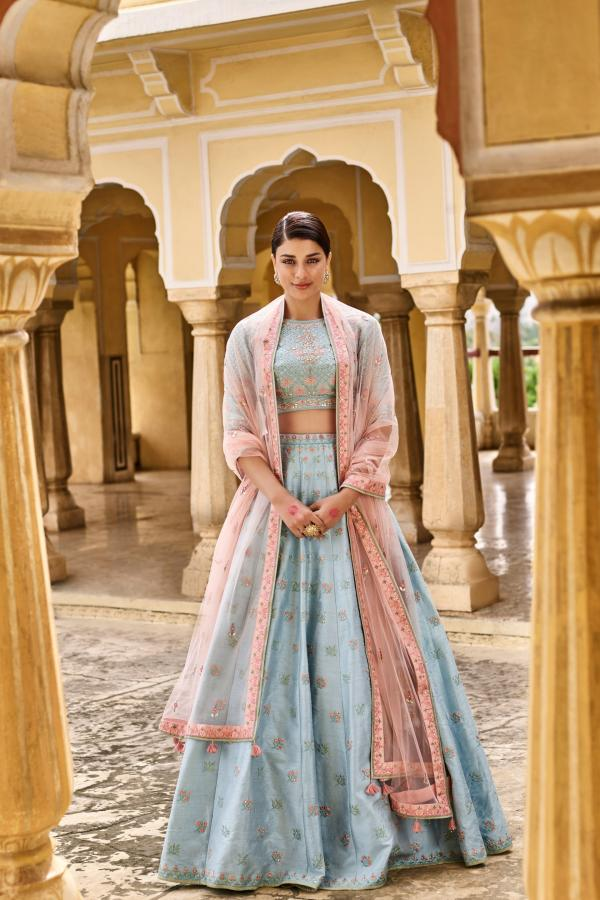 PC 26 Designer Sky Blue Lehenga Choli