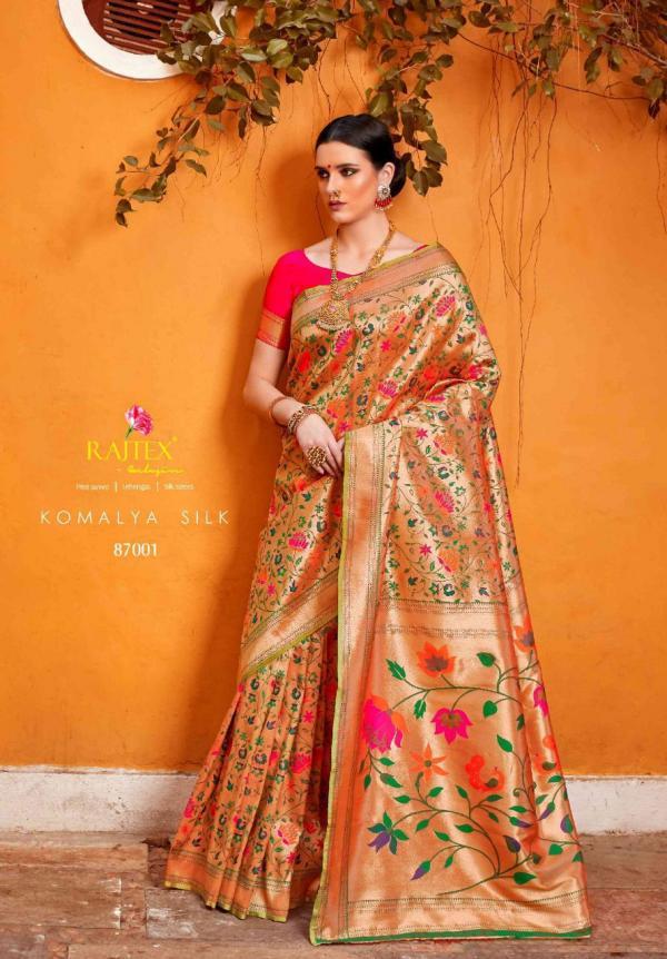 Rajtex Saree Komalya Silk 87001-87006 Series