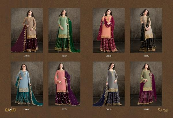 Rama Fashions Raazi Dilbaro 30033-30040