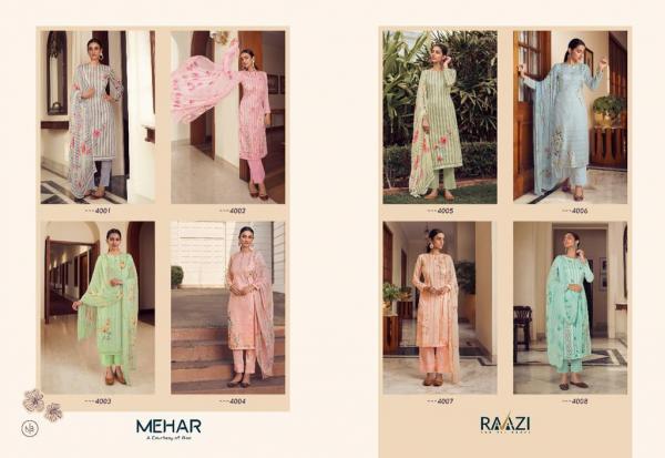 Rama Fashions Raazi Mehar 4001-*4008