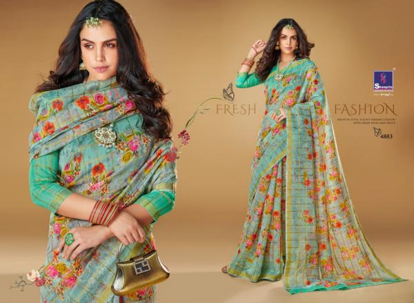 Shangrila Saree Kajal Linen 4883-4894 Series