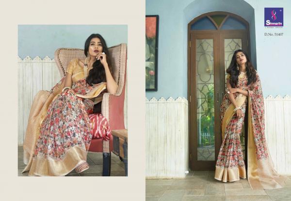 Shangrila Saree Trisha Digital Linen 51407-51418 Series