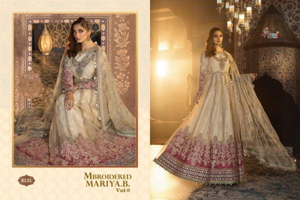 Mbroidered Mariya B Vol-9 By Shree Fabs 8131-8135 Series Wholesale