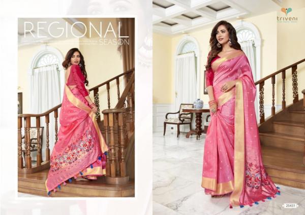 Triveni Saree Prime Rose 25431-25438 Series